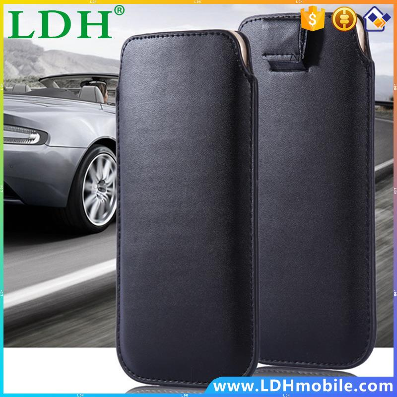 Universal 4.7 Purse Leather Case For iPhone 5 5S 4 4S i6 6s General Pull Tab Sleeve Cover For Samsung S3 mini/ S4 mini