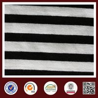 Feimei cvc stripe fabric black and white striped knit fabric