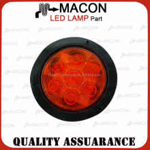 4 inch Round LED Light Stop/Tail/Turn, Ring round led truck tail lamps