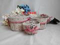 wire storage basket for home decoration with remove handles