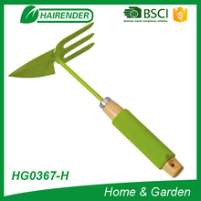 promotion green gardening tool manual draw hoe&rake