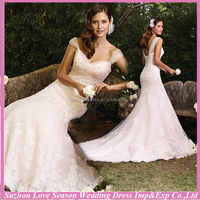 WD4246 2014 new arrival OEM service china suzhou alibaba latest design cheap white appliqued wedding dress real picture