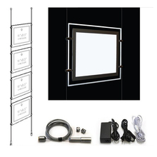 A3 and A4 Crystal picture frame LED backlit light boxes