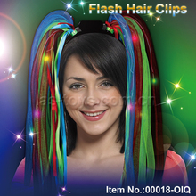 Colorful party head bopper flash hair clips