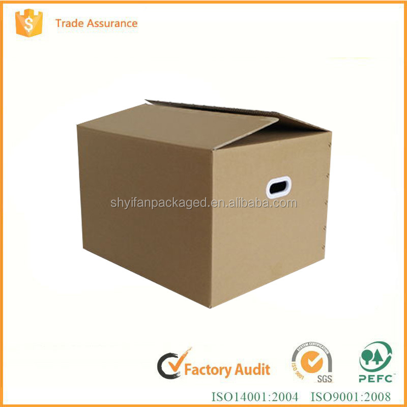 Custom design carton box corrugated carton folding brown kraft paper box for moving/clothes storage