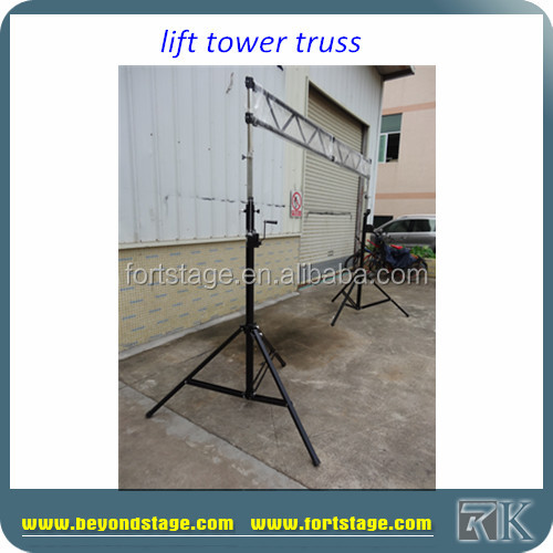 RK High Quality Telescopic Lifting Tower/elevator stand truss/moving head light truss stands