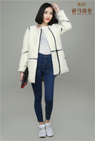 Merino Sheep Skin Coat White Color