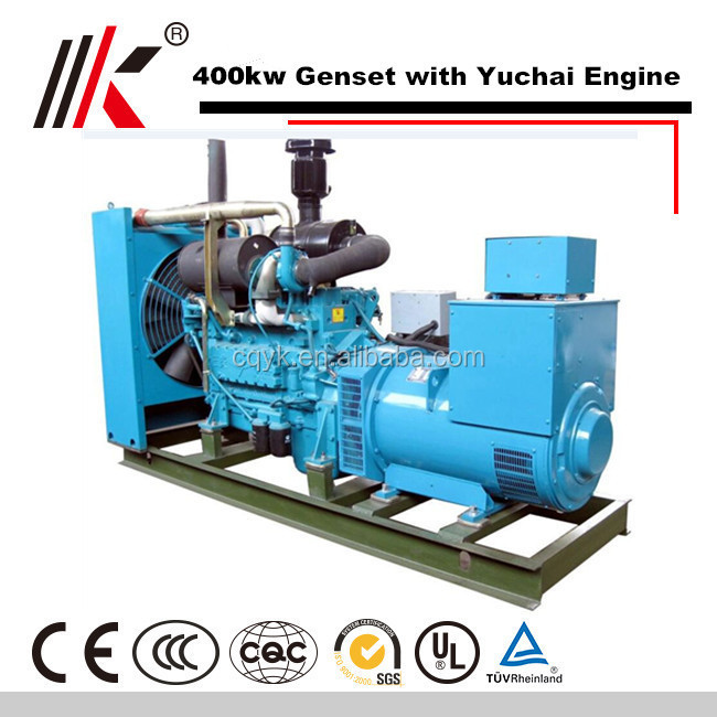 BEST SELLING ELETTROGENO 400KW GENERATORE 500KVA FROM YUCHAI LIST DIESEL PRICES