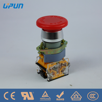 UPUN AC 660V 10A Red Mushroom Emergency Stop Push Button Switch 22mm