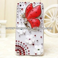 Beautiful Butterfly 3D Bling rhinestone case for iPhone 5 5s