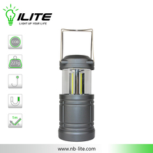 Portable and Foldable 3-sided COB LED Camping Lantern with Handle