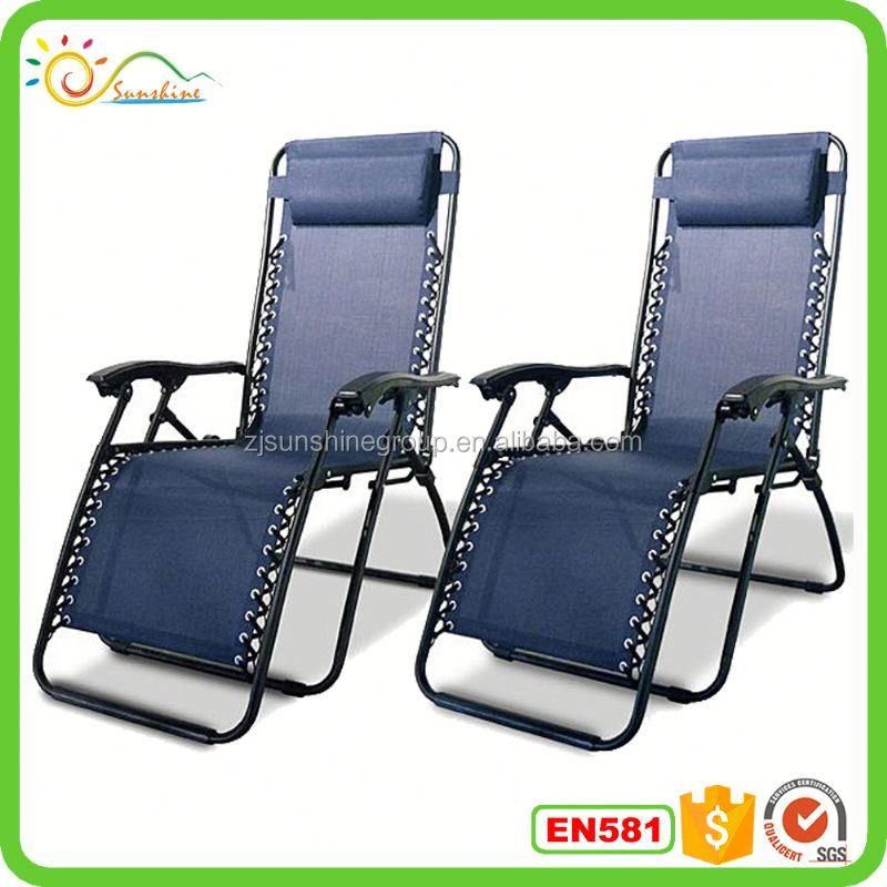 Folding lounge chair with texline fabirc and pillow