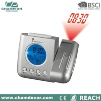 Wireless digital lcd projection clock with radio control , analog weather station clock