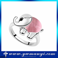 Cute style funny ring jewelry elephant shape pink kids finger ring wholesale R0668