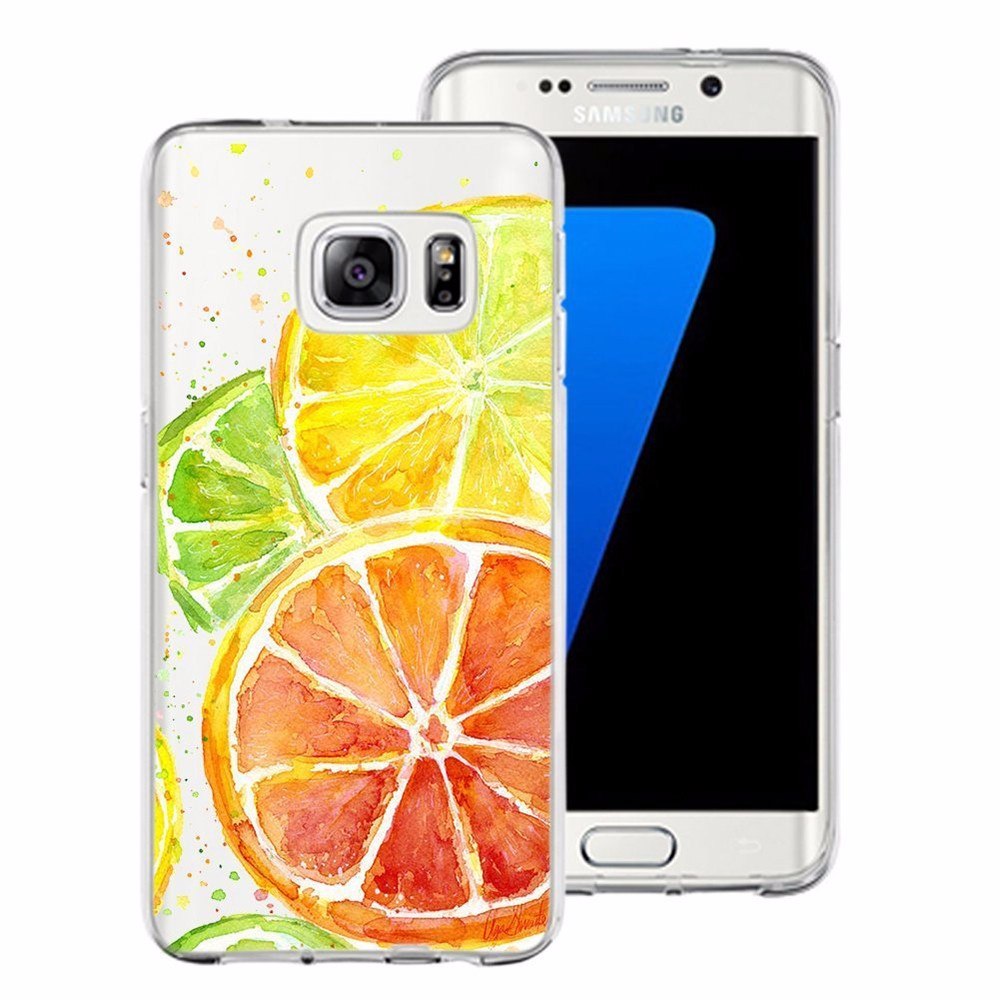 New fashion design fruit printing painted phone case for samsung galaxy S7 tpu case in stock