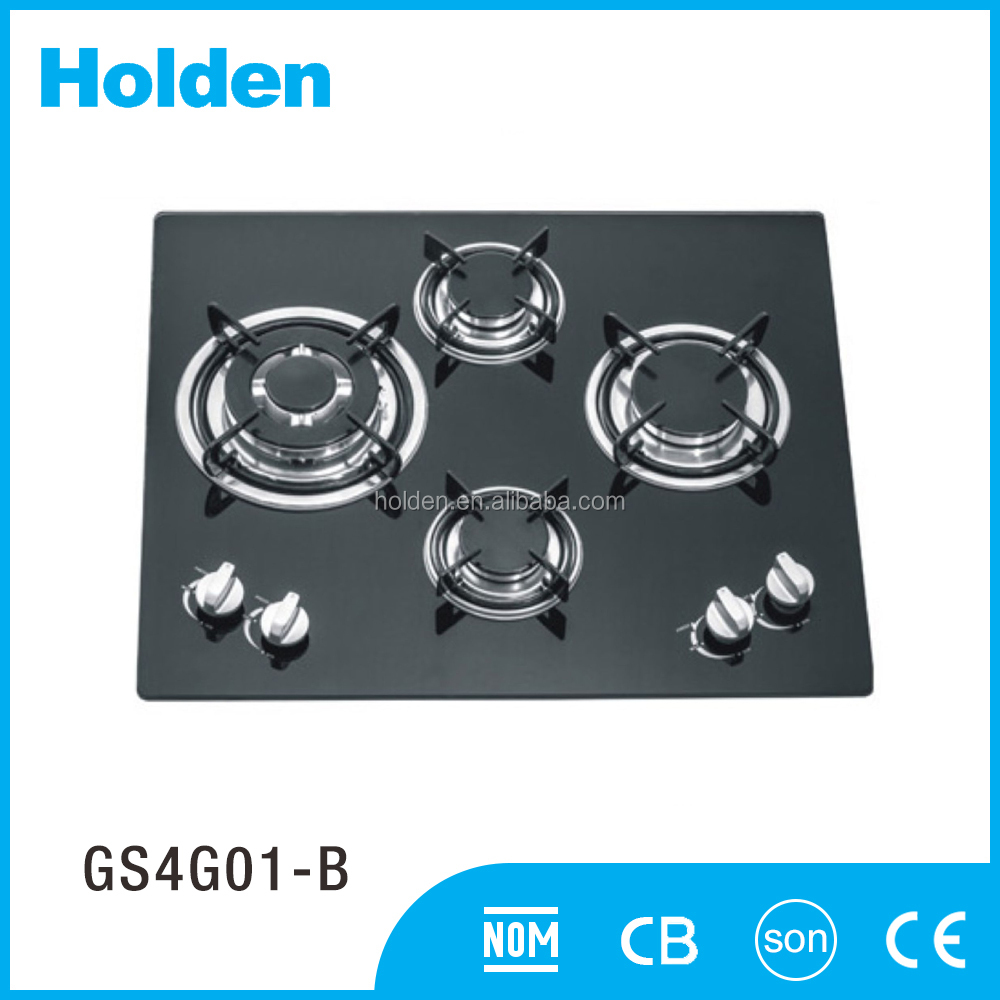 Competitive price home trends 60cm induction cooktop and 4 burner portable gas stove GS4G01-B
