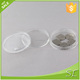 small transparent clear round plastic boxes