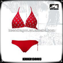 2014 New lady's fashion beachwear red color 2013 fashion bikini