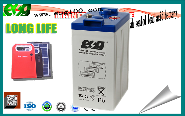 VRLA ups lead acid dry battery 2v 400ah high quality high discharge rate battery