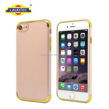 Ultra Thin TPU Bumper Case Cover for iPhone 7,Crystal Rubber Plated TPU Soft Case Cover for iPhone 7