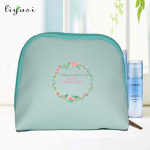 Wholesale promotional cosmetic pu material make up bag