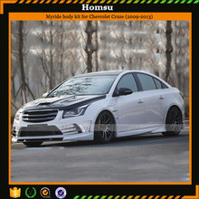 competitive price 2009 car facelift body kit pu material including bumper and side skirt for chevrolet cruze