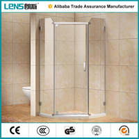 304 stainless steel small bathtub pivot steam shower room