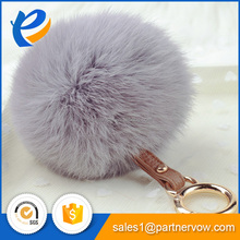 Fluffy Fashion Cute Fur Ball Keychain Genuine Rabbit Fur Pompoms