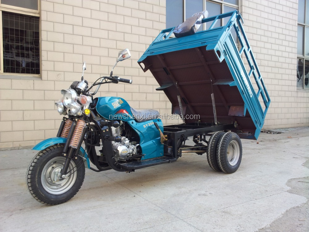 Five Wheel Motor Tricycle for Cargo with Double Rear Wheels Air Cooled Engine