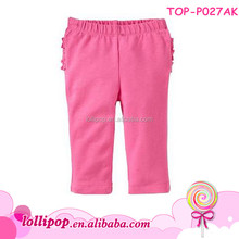 2017 Hot sales princess hot pink cotton wholesale busha baby pants