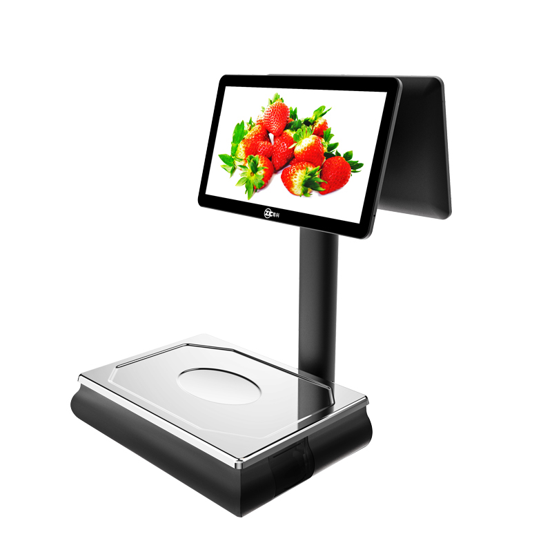 weighting pos <strong>scale</strong> ZK-W8 dual screen wifi smart digital <strong>scale</strong> logistics retail software