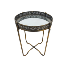 China Supplier Unique Home Furniture Folding Metal Iron Vintage Tray Table