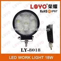 China Supplier round 18w led working light crome front,auto led work light,18w off road light