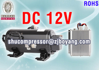 Hotselling general electric compressor for truck cab dc air conditioner all electrical van freezer units
