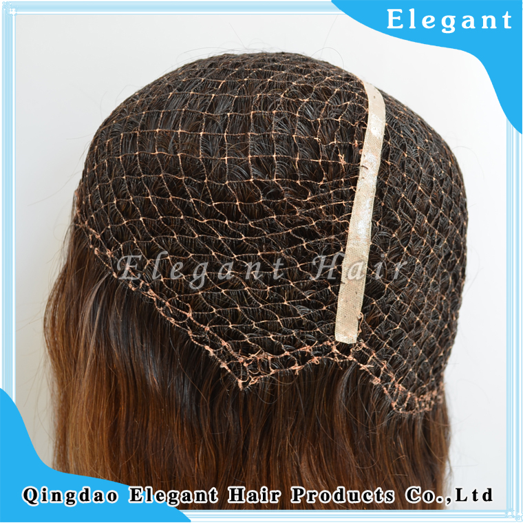 100% brazilian virgin hair fish net integration wigs with 100% remy human hair