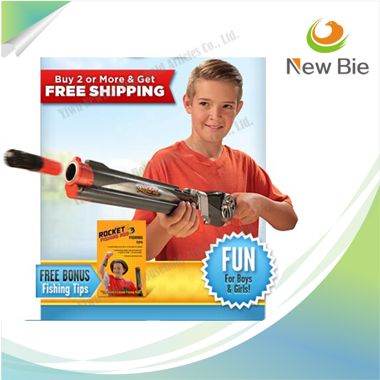 Rocket Fishing Rod - Ready to Fish Kids Fishing Pole - Shoots a Bobber Instead of Casting