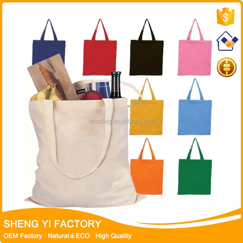 Alibaba Supplier cotton canvas folding Tote Shopping Bag