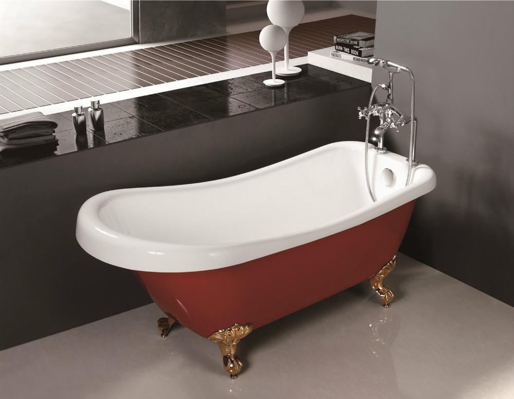 Vasca Da Bagno Piedini : Mobile vasca con i piedini a buon mercato free standing rosso vasca