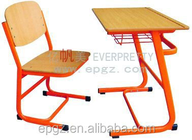 universal furniture parts , steel strong comfortable classroom furniture , comfortable single desk and chair