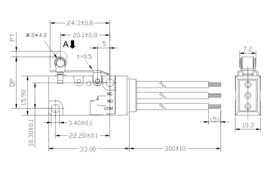 roller lever plastic pin plunger snap spdt waterproof