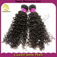 Super quality 5A remy virgin long-lasting cheap kinky curl/ tight curly malaysian hair weave
