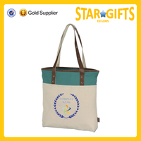 China Supplier Custom Trendy Bold Color Band Women Tote Bag