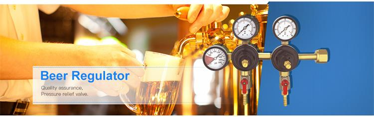 Forged Brass Body Beer Co2 Regulator Digital Air Pressure Gauge