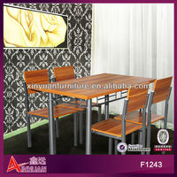 melamine iron base table and chair dining table designs