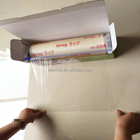 super clear soft pvc material cling film/plastic film/food wrapping by SGS