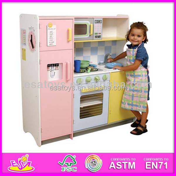 2015 New and popular wooden kids kitchen,Toy kitchen children play,fridge and washing machine combination WJ278046