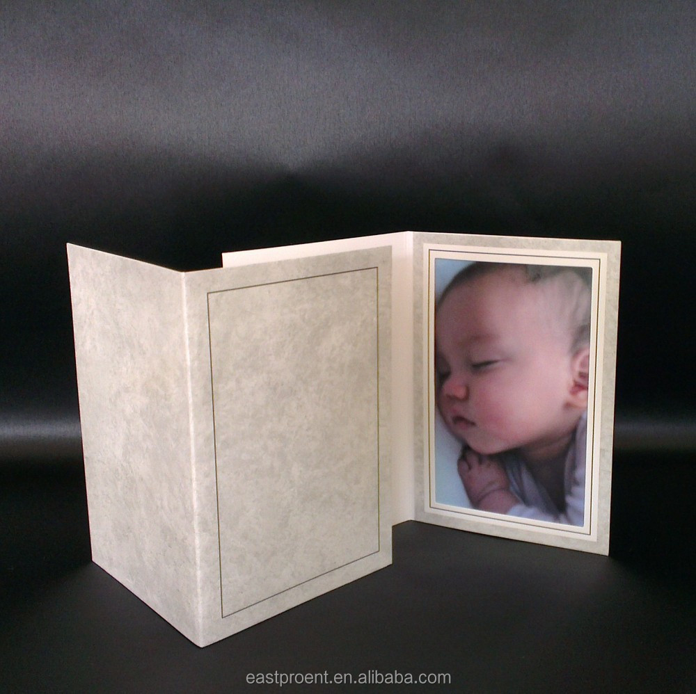 Grey marble-like Paper Photo Frame