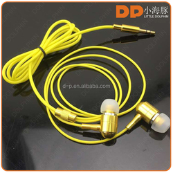 China suppliers fluorescence glowing earphone high sound quality headphone for apple mobile phone