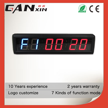 [GANXIN]2.3 Inch Promotional Automatic Led Digital Gym Timer Made in China FGB/TABATA Mode