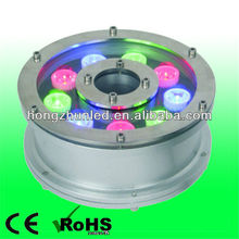 ip68 led rgb 9w led multi color swimming pool rope light 12v